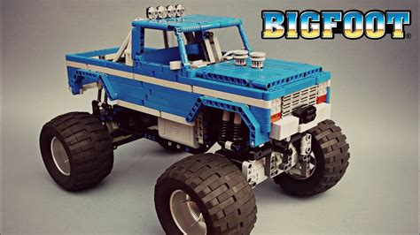 bigfoot monster truck videos youtube technic bigfoot 1 rc monster truck moc with