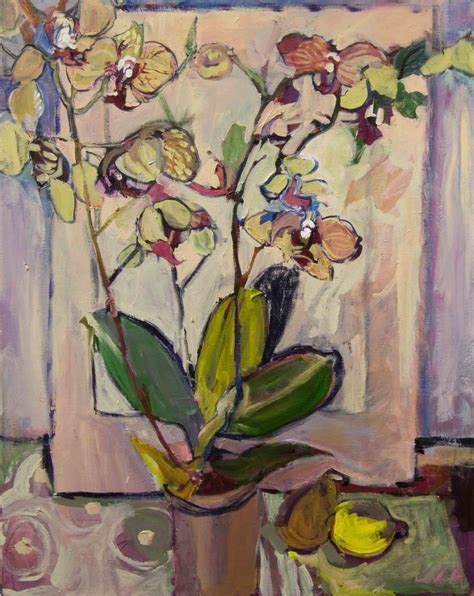 wild orchid home decor wild orchid and lemon by lila bacon acrylic painting artful home