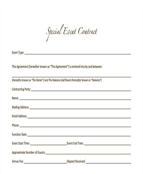 free event planner contract template free wedding planner contract templates