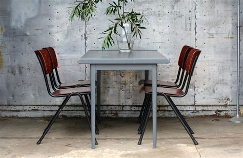 design len jaren 60 industriele vintage galvanitas super schoolstoelen jaren