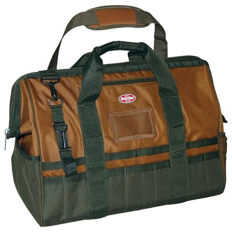 klein tools 18 in leather bottom canvas tool bag 5003 18