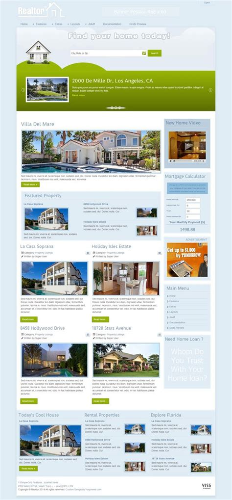 joomla templates real estate realtor 174 joomla real estate template