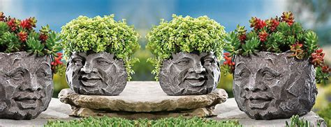 rock face planters the green head