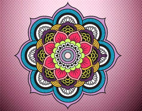 imagenes flor mandala dibujo de pintado por lolaa en dibujos net el d 237 a 12 09