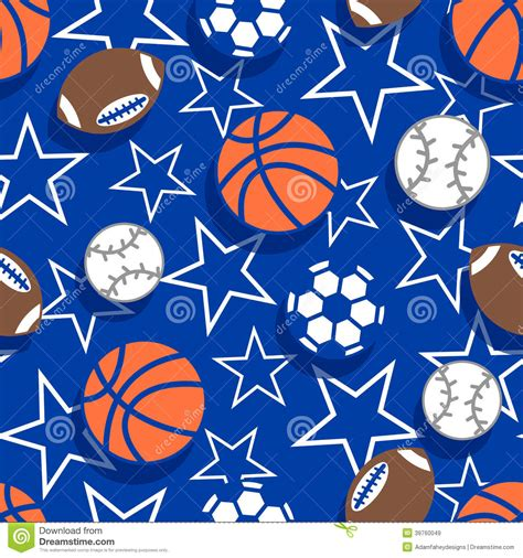 sport pattern background free sports balls seamless pattern stock vector image 39760049
