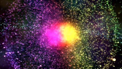 abstract slow motion relaxing background chaotic movement of abstract colorful particle explosion stock footage video