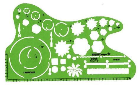 alvin td5351 1 4 quot scale landscaping design drafting