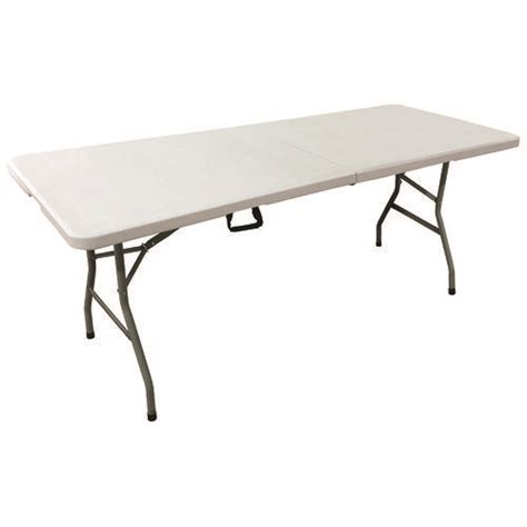 6 rectangular resin fold in half banquet table at
