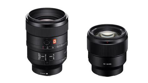 sony lenses new sony fe prime lenses 100mm f 2 8 gm and 85mm f 1 8
