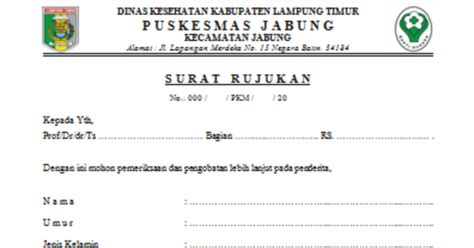 health document surat rujukan