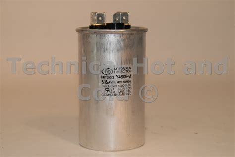 run capacitor specifications lennox y4609 capacitor dual run 35 5 mfd 440 vac