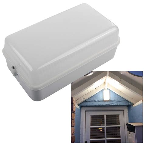 Indoor Outdoor Lighting Opal Knightsbridge Amledw Indoor Outdoor Led Bulkhead Light 230v 5w Ip54 Amenity White Opal