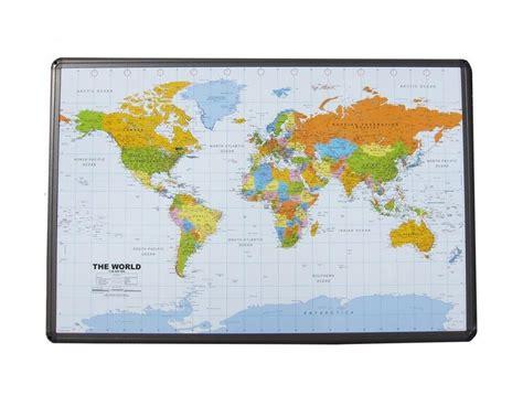 buy world map  cork board aluminum frame  push pins