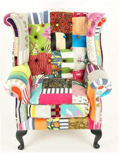 Patchwork Upholstery - modern interior design trends inspired by patchwork fabric