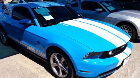 mustang blue and white 2010 ford mustang gt300 blue white rally stripes 5k