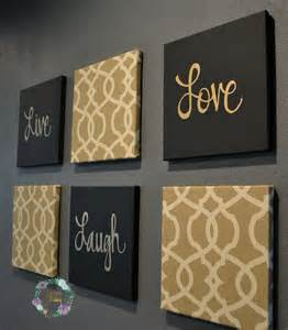 Black And Gold Wall Decor black and gold eat drink be merry chic wall set