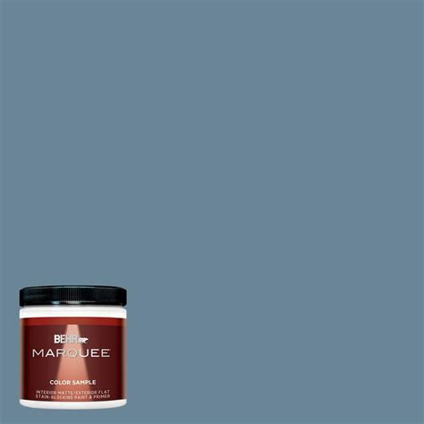 behr marquee 8 oz mq5 60 south pacific matte interior exterior paint and primer sle mq30416