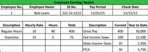 employee earnings record template buy a essay for cheap payroll report exle