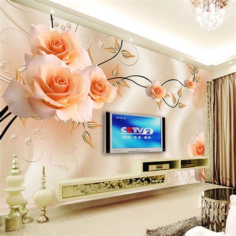 flower wallpaper home decor custom photo wallpaper modern 3d relief roses flower wall