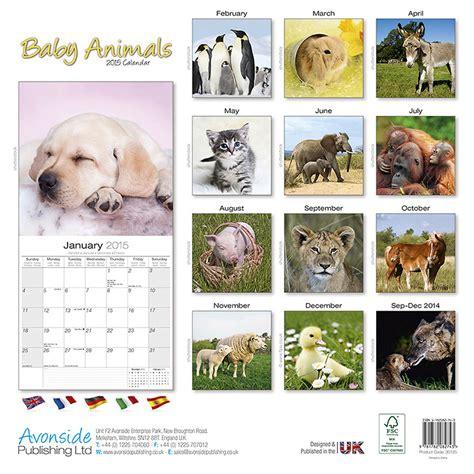 Baby Calendar 2015 Baby Animals Calendar Calendar Template 2016