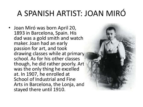 joan miro biography in spanish a spanish artist joan mir 211