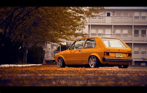 volkswagen rabbit stanced vw mk1 rabbit stance works