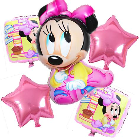 Tomica Mickey And Minnie Mouse Cubic Mouse Tap Set 5pcs lot minnie mickey mouse foil balloons balloons 1 year mickey mouse mouse