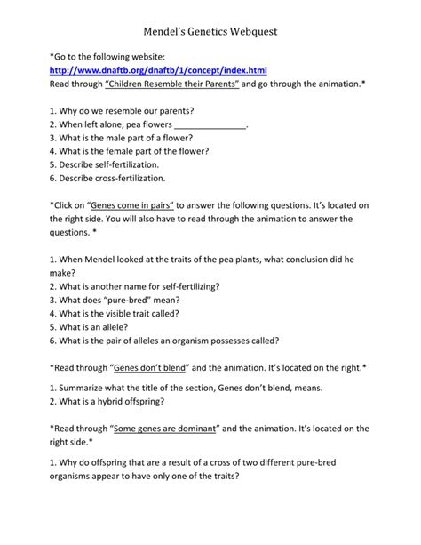 best of mendel genetics worksheet with answers goodsnyc