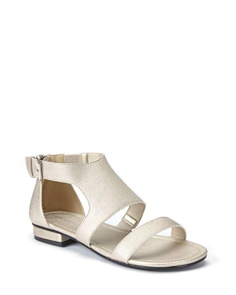 wide width sandals wide width faux leather flat sandals penningtons