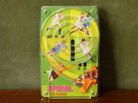 blue themed games vintage pinball football themed mini spiral game by blue