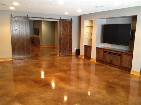 level concrete basement floor acid stained basement floors basement floor alternatives