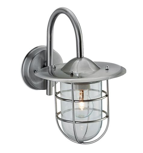 firstlight ip44 outdoor cage wall light stainless steel