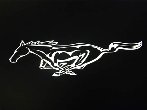 ford mustang window wall decal sticker size approx