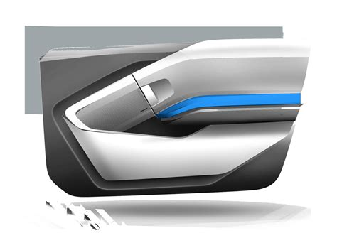 Interior Car Door Panels Bmw I3 Interior Design Sketch Door Panel Car Design