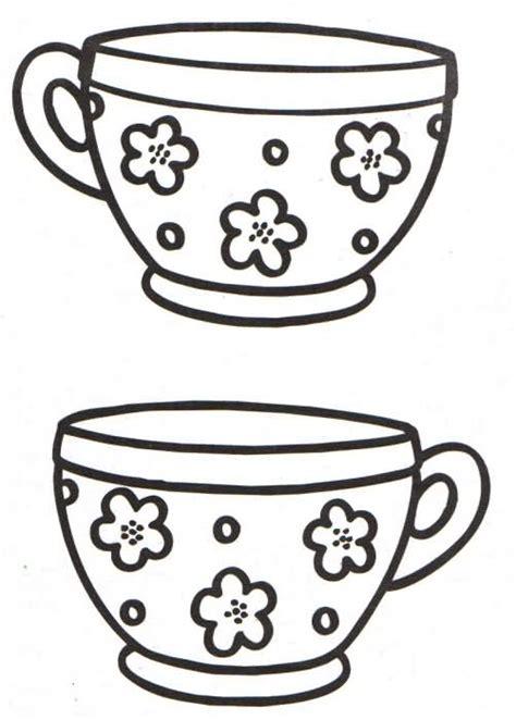 imagenes infantiles tazas dibujo de taza de te para colorear imagui