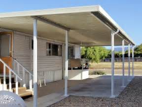 Awnings For Mobile Home Porches by Aluminum Patio Cover Carport Prices Ideas For The House