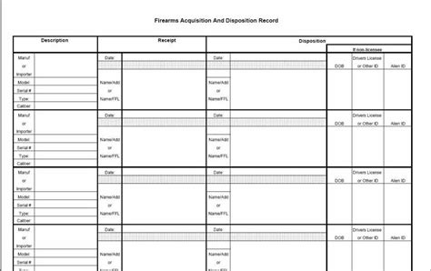 Ffl Bound Book Template Be A Survivor Batf Bound Book Requirement And Getting C R Process