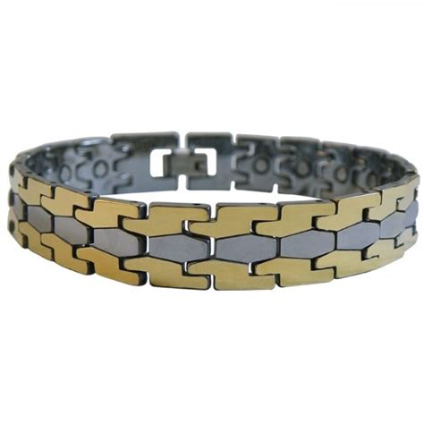 Bracelet Tungsten Ceramic Magnetic Healt Silver magnetic therapy relief personal care products magnetic jewelry