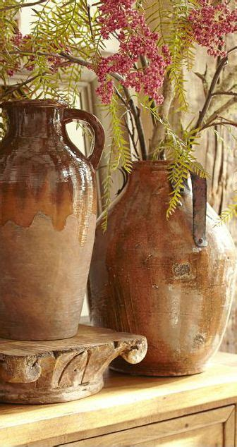 tuscan vases home decor rustic pottery every tuscan interior needs the texture