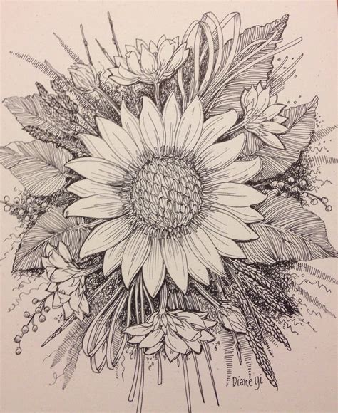Carithers by Sunflower 2014 Diane Yi Pen And Ink Drawings Pinterest