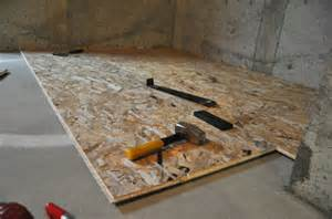 install basement subfloor the basement project installing dricore subfloor suburble