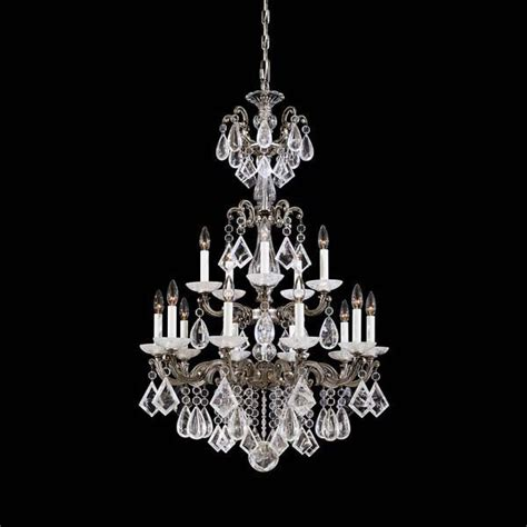 Swarovski Chandelier Schonbek Swarovski Lighting 5411 La Scala Rock 12