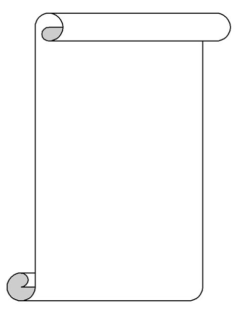 scroll drawing template scroll template clipart best