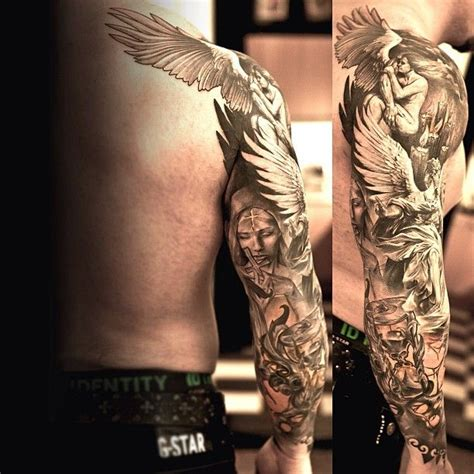 angel shoulder tattoos for men tattoos for ideas and inspiration for guys