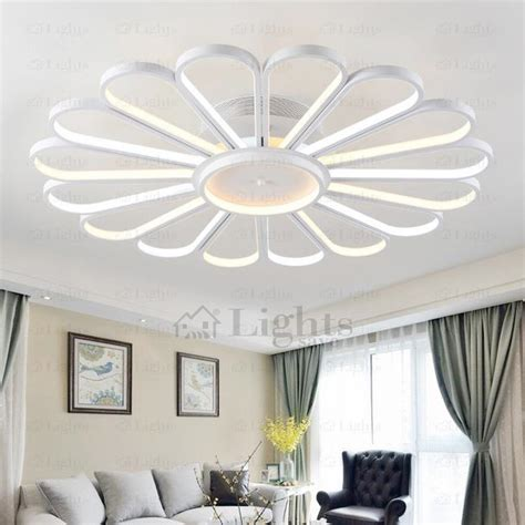 led ceiling fan light fixtures creative fan shaped led ceiling light fixtures for bedroom