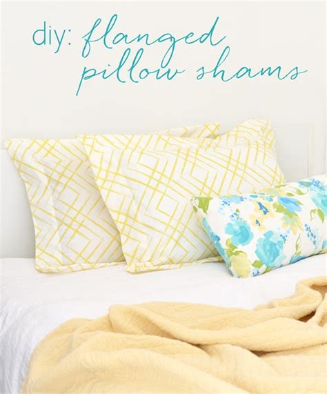 Diy Pillow Shams by Diy Flanged Pillow Shams Centsational