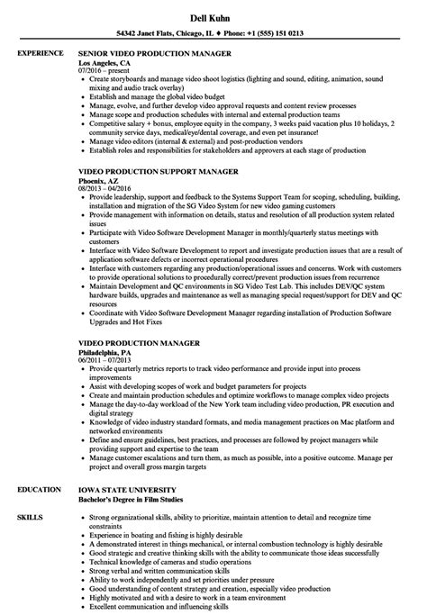supervisor resume examples 100 images production supervisor