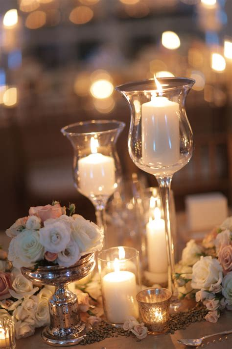 candle centerpieces for home wedding table decorations with candles