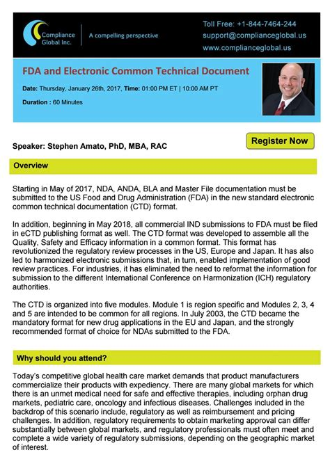 Mba Regulatory Compliance Conference 2018 by Fda And Electronic Common Technical Document By Compliance