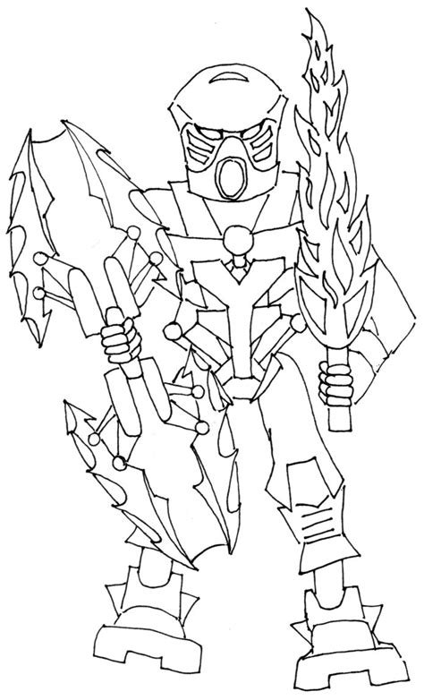 bionicle coloring pages to download and print for free